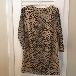J. Crew leopard tunic dress